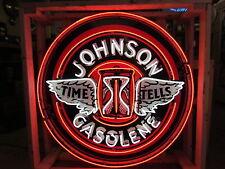 """New Single-Sided Johnson Gasolene Neon Sign 48"""" Diameter"""