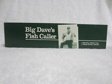 Big Dave'S Fish Caller: Lures Schools of Fish Fast! Vintage Fishing Gag Gift!