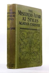 1926 Vintage Agatha Christie The Mysterious Affair At Styles Detective Fiction