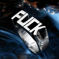 Cool Gothic Punk Biker Finger Rings Jewelry Women Men Stainless Funny Y1