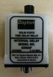 Dayton  6X603F Interval Delay Solid State Time Delay Relay