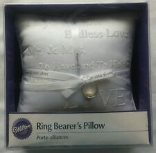 @@@ NEW WHITE RING BEARER'S SATIN WEDDING DAY PILLOW FOR MARRIAGE CEREMONY @@@