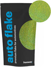 "Hemway Metal Flake Lime Green HOLO 0.004"" MICROFINE 50g Auto Car Bike Glitter"