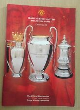 Manchester United Football Merchandise Catalogue - Christmas / Xmas 1999