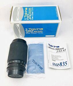 Tokina SMZ 835 80-200mm f/3.5-4.5 MF Zoom Lens Nikon F Mount AI Japan