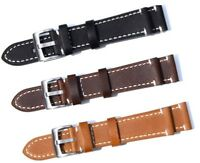 Wristwatch Bands Watch Strap Cow Leather Replacement Belt 18/19/20/21/22/23/24mm