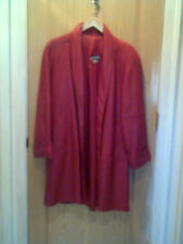 RED Leather 3/4 Swing Coat  By Tibor Fully Lined Generously Sized XS