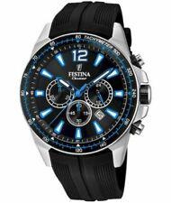 New Festina Men's Chronograph Rubber Strap   f20376/2 Watch