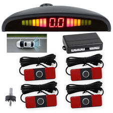 4PCS Sensors LCD LED Display Car Rear Reverse Backup Radar System Alarm Kit