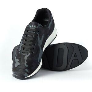 Prada Sneakers Navy Camo Tech Runners Size UK 10 Prada Trainers New RRP £590