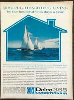 1962 GM Delco 365 Air Conditioner Print Ad Zestful Healthful Living Sailboats