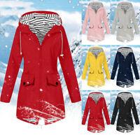 Donna Pioggia Giacca Outdoor Dimensioni impermeabile con cappuccio cappotto