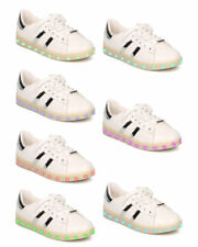 New Women Forever Signal-68 Leatherette Lace Up Light Up Chargeable Sneaker