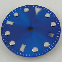 28.5mm Sterile Blue Watch Dial fit Mingzhu 2813 3804 Miyota 82 Series movement