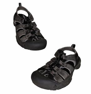 Keen Size 9 Newport H2 Sport Sandals Men's Black Steel Gray 1022252 Hike Trail