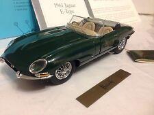 1/24 Franklin Mint Harrods Green 1961 Jaguar E Type  XKE Convertible B11ZG23 LE