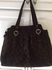 Vera Bradley Tote Bag Handbag Microfiber Espresso Collection X Large