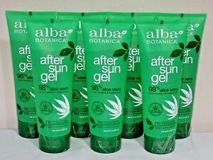 Lot of 7 Alba BOTANICA Soothing After Sun Gel 98% Aloe Vera 8 oz Each Bottle NEW