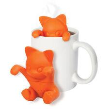 LK _ Moda lindo gato Infusor de té Silicona hojas sueltas Colador Herbal Filtro