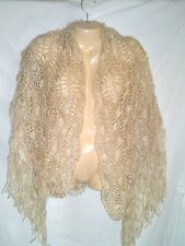 PRETTY HANDCRAFTED OFF WHITE SHAWL / WRAP