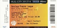 Ticket - Hull City v Fulham 28.12.13