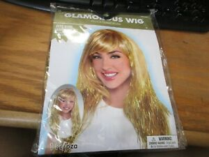 GOLD GLAMOROUS WIG for ADULTS or KIDS Birthday Halloween Party Supplies NIP