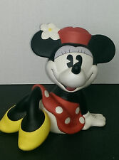 DISNEY VINTAGE MICKEY MOUSE SITTING CROSS LEG PIGGY BANK BY ENESCO