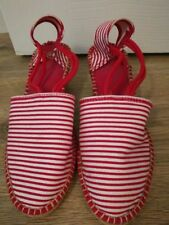 Canvas Striped Sandals for Women
