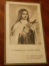 1921 ancien IMAGE PIEUSE sainte THERESE de L'ENFANT JESUS priere HOLY CARD ste
