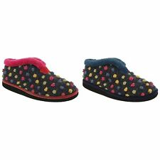 Booties Spotted Textile Slippers for Women