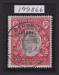Somaliland Protectorate. 1904. SG 44, 5r grey black & red. Berbera cds. VFU.
