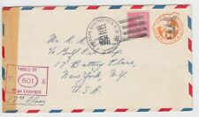 More details for ww2 american base forces apo 805 st lucia air mail 1941 censored cover