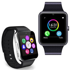GT08 Bluetooth Smart Wrist Fitness Watch Phone for IOS Android Silver SIM Slot