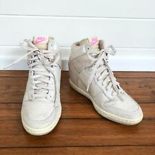 Nike Women's High-Heel Lace-Up Platform Wedge Sneakers - EUR 39