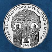Slowakei - 1150 Jahre Slawisch-Liturgischen Sprache - 10 Euro 2018 BU - Silber