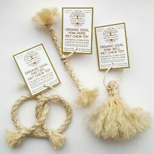 Organic Sisal Trio Set Pet Chew Toy for Rabbits & Other Small Pets