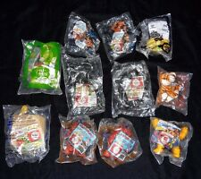 McDonald's Happy Meal Toys Lot of 11 Marvel SpiderMan Ice Age Shrek Sealed Bags
