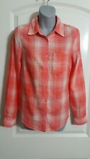 Women's Shirt Peach Attention Button Front Top XS S Small M Med L Large NEW $20