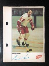 GORDIE HOWE 1971-72 TORONTO SUN NHL ACTION PHOTO - DETROIT RED WINGS