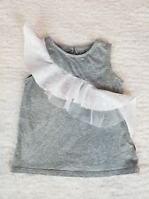 Baby Gap Baby Girl Toddler Gray Dress Lace Trim Dress Size 2 Years