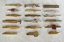 Lot of 18 Vintage Tie Bars * Slide-On Style * Swank * Anson * Nice