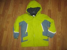 Girls LANDS END insulated waterproof reflective fleece lined coat M Md Med 10 12