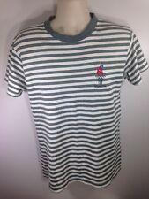 VTG Vintage 1996 Atlanta Olympics Green Stripe Tee Shirt Men's Medium (flaws)
