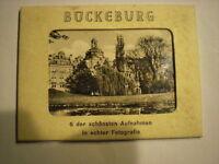 uraltes s/w Leporello  BÜCKEBURG  um 1950