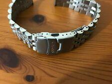 Seiko jubilee 22mm flat straight lugs stainless steel gents watch bracelet strap