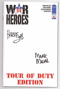 War Heroes 1 Tour of Duty Edition NMMT Signed Millar & Tony Harris Blank Variant