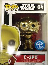 Star Wars The Force Awakens C-3po Chrome Pop Vinyl Figure Funko 64