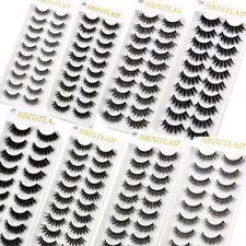 2020 New 10 Pairs 3D Mink False Eyelashes Wispy Cross Fluffy Extension Lashes