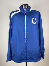 Men's Reebok On-Field Indianapolis Colts Blue/White Full Zip NFL SB Jacket L