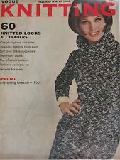 Vintage 1960s VOGUE KNITTING BOOK Fall & Winter 1964 w/ 60 Pattern Designs